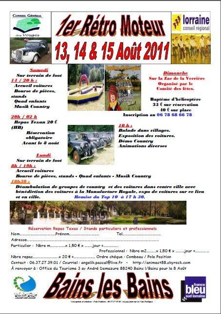 1er Rétro-Moteur à Bains les Bains (88)